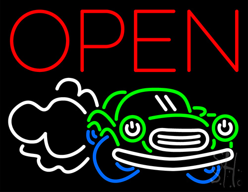 Open Car Neon Flex Sign