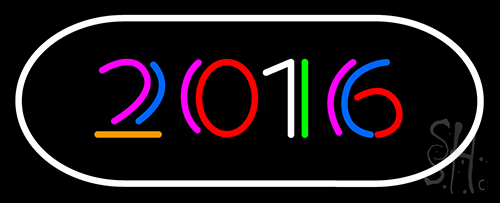 2016 With Border Neon Flex Sign