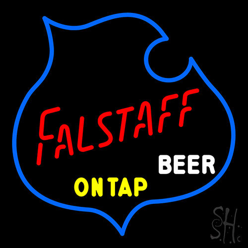 Falstaff On Tap Beer Neon Flex Sign