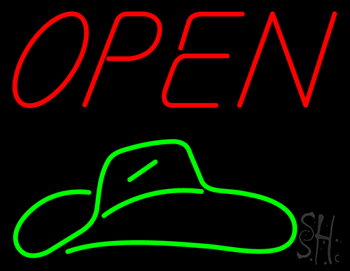 Red Open Neon Flex Sign