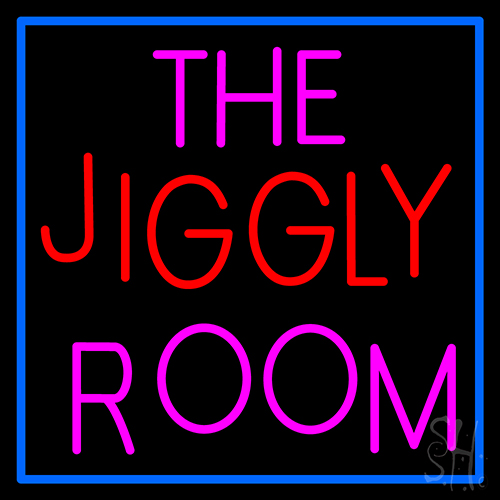 The Jiggly Room Neon Flex Sign