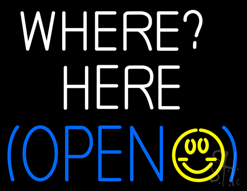 Where Here Open Neon Flex Sign