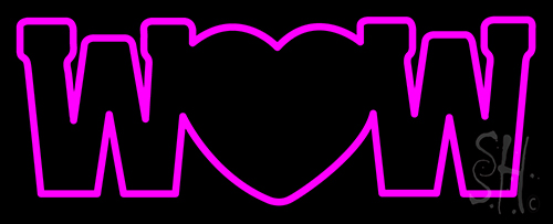 Wow With Heart Neon Flex Sign