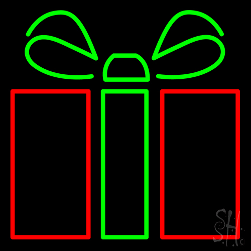 Gift Icon Neon Flex Sign