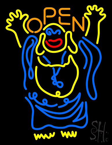 Laughing Buddha Open Neon Flex Sign