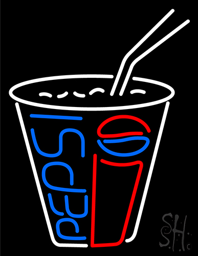 Pepsi Soda Pop Glass Beer Bar Open Neon Flex Sign