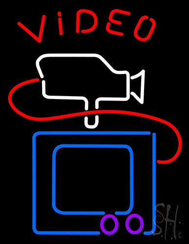 Video With Camera Tv Neon Flex Sign