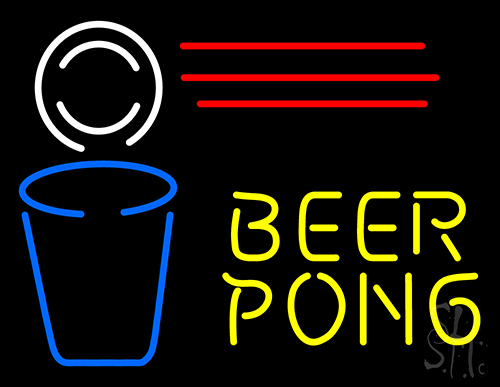 Beer Pong Neon Flex Sign