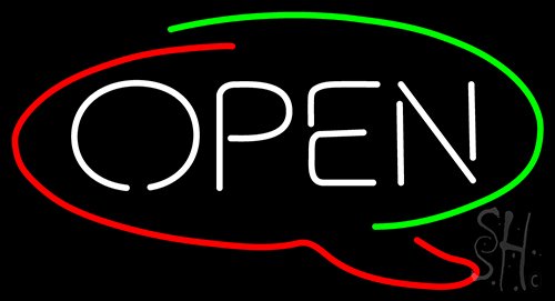 Open Logo Neon Flex Sign
