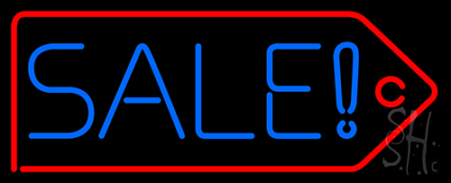 Sale With Red Border Neon Flex Sign