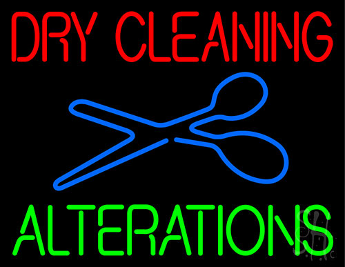 Dry Cleaning Alteration Neon Flex Sign