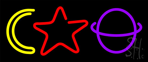 Moon Star Planet Neon Flex Sign
