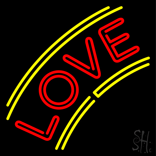 Arc Love With Border Neon Flex Sign