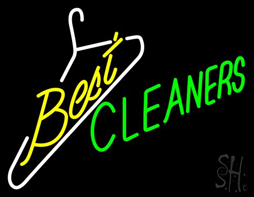 Best Cleaners Neon Flex Sign