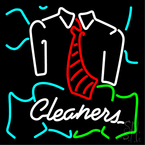 Blue Cleaners With Shirt Neon Flex Sign