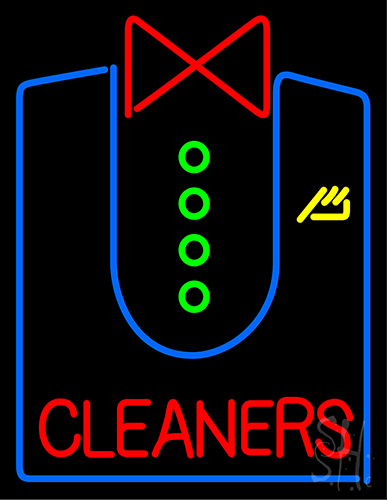 Cleaners With Shirt Neon Flex Sign