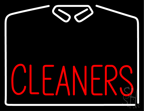 Cleaners With White Shirt Neon Flex Sign