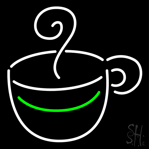 Coffee Cup Logo Neon Flex Sign