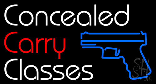 Concealed Carry Classes Neon Flex Sign