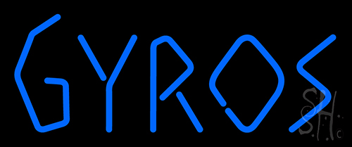 Gyros Bright Blue Letter Neon Flex Sign
