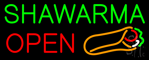 Hawarma Open Neon Flex Sign