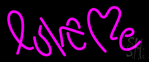 Love Me Pink Neon Flex Sign