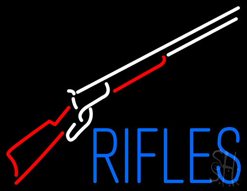 Rifles With Graphic Neon Flex Sign