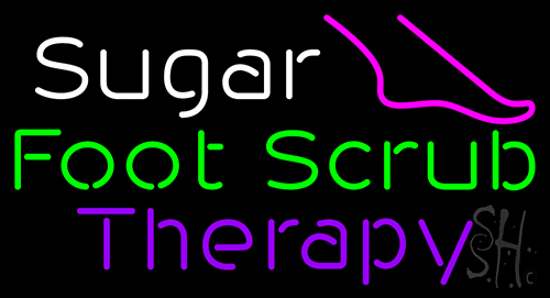 Sugar Foot Scrub Therapy Neon Flex Sign