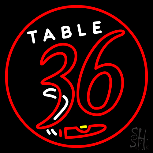 Table 36 Cigar Neon Flex Sign