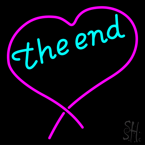 The End Heart Neon Flex Sign