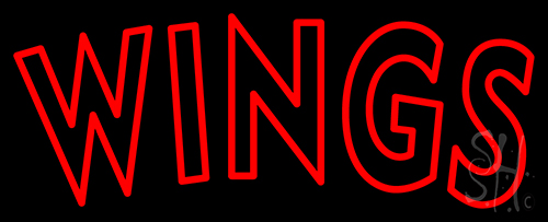 Wings Red Neon Flex Sign