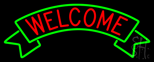 Welcome Red  Neon Flex Sign
