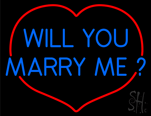 Will You Marry Me Neon Flex Sign