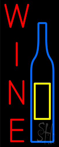 Wine And Bottle Neon Flex Sign