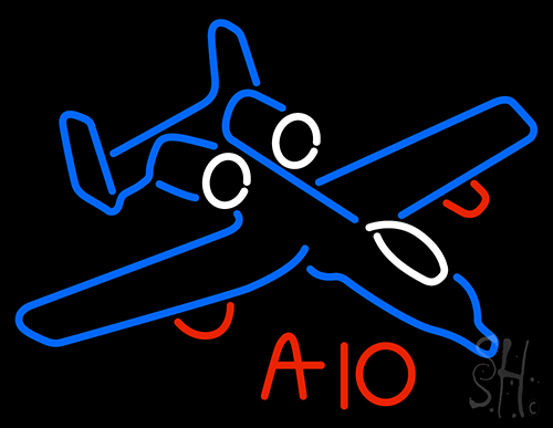 A 10 Warthog Jet Airplane Neon Flex Sign