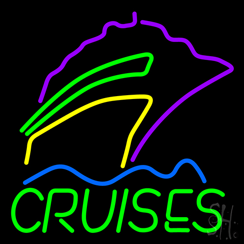 Cruises With Logo Neon Flex Sign