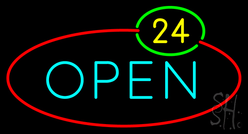 Open 24 Neon Flex Sign