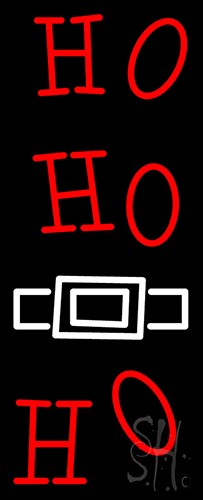 Red Ho Ho Ho Santa Logo Neon Flex Sign
