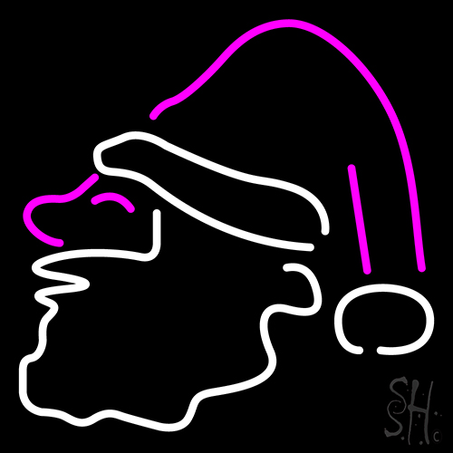 Santa Claus Icon Logo Neon Flex Sign