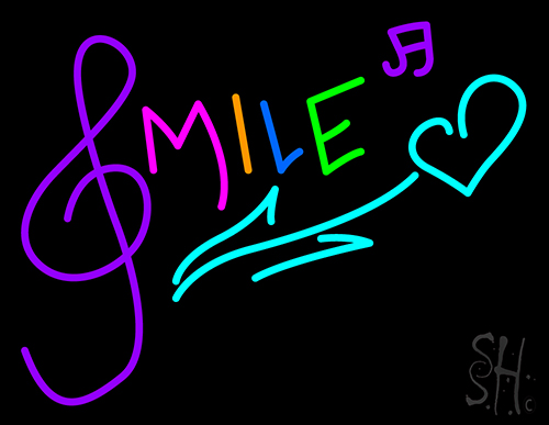 Smile Heart Neon Flex Sign