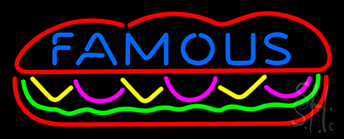 Famous Burger Neon Neon Flex Sign