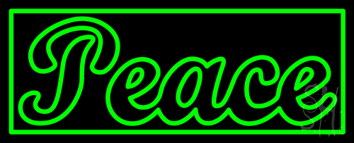 Peace 1 Neon Flex Sign