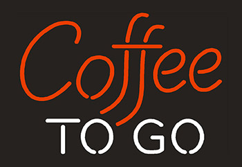 Coffee To Go Neon Flex Sign
