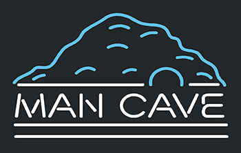 Mountain White Man Cave Neon Flex Sign