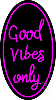 Good Vibes Only Neon Flex Sign 16