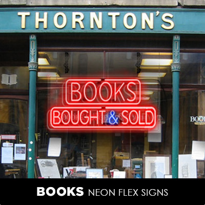 Books Neon Flex Signs