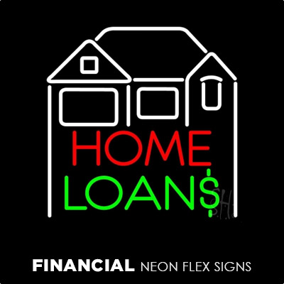 Financial Neon Flex Signs