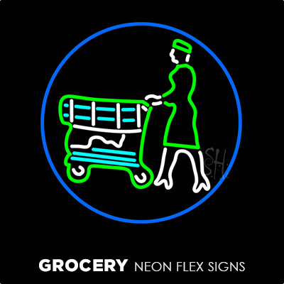 Grocery Neon Flex Signs