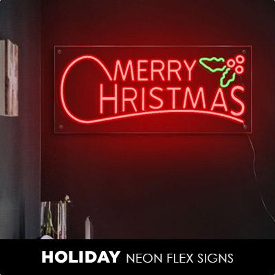 Holiday Neon Flex Signs
