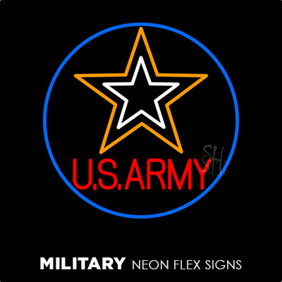 Military Neon Flex Signs